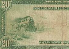 LARGE 1914 $20 DOLLAR FEDERAL RESERVE NOTE CURRENCY BIG PAPER MONEY Fr 988 PMG