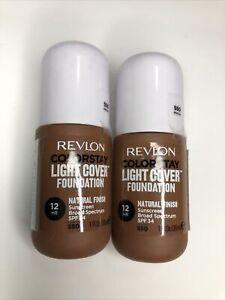 2 PK Revlon ColorStay Light Cover Foundation SPF 35, #550 Mocha EXP 8/22