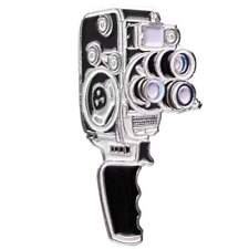 Bolex 16 16mm 8mm Enamel Pin
