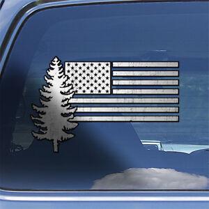 Américain Drapeau Forester Décalque Autocollant - USA Parc Ranger Forêt