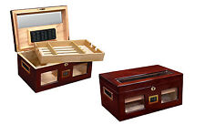 VALENCIA Cigar HUMIDOR with Digital  Hygrometer - Holds up to 120 Cigars