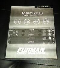 Furman M8/8L/8D/10 Original Manual