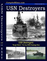 "Navy DESTROYERs ""Rough Riders"" Tin-Cans Films WW2 Training Greyhounds DE DVD DD"
