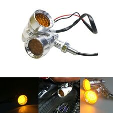 Motorcycle Bullet LED Turn Signal Indicator Amber Light Lamp For Harley Chopper