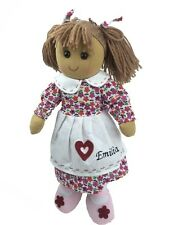 Personalised Handmade Rag Doll With 'Heart' Design 40cm. Great Gift