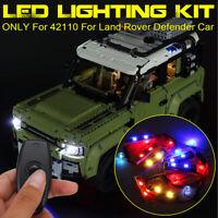 LED Licht Beleuchtung Set nur Für lego 42110 für Land Rover Defender Auto Steine