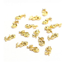 5pcs New 3D Gold Rose Alloy Flower Bud/Blooming Charms Nail Art Decorations