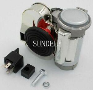 Chromed Air Horn Kit 12volt red Car Loud 139dB Brand Air Horn Super Loud