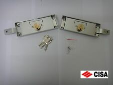 PAIR KEYED ALIKE CISA HIGH SECURITY SHUTTER / GARAGE DOOR LOCKS 41526.78 - STEEL