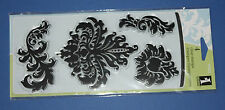 NEW Inkadinkado 'Bold Damasks' Clear Stamp Set 97823 - (4 stamps) Reduced