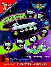 2001 McDonalds Buzz Lightyear MIP Set - Lot of 6, Boys & Girls, 3+