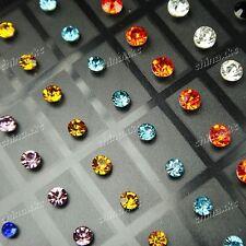 Fashion Jewelry 72pcs Stainless steel Zircon Women Stud Earrings Wholesale Lots