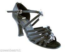 1650 Black Leather Swing Ballroom Salsa Latin Dance Shoes heel 2.5 Size 8.5