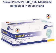 10x/50x OP Maske Mundschutz Medizinisch EN14683 TypII, Meditrade,Made in Germany