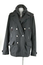 Bogner Fire + Ice Mantel Winterjacke schwarz 54 XL HerrenCaban Peacoat 80% Wolle