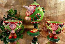 Retired Patience Christmas Krinkles Tea Set Department 56