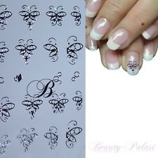 Nagelsticker Schmetterling NailArt Sticker Aufkleber Nägel Nageldesign Silber055