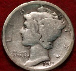 1917-D Denver Mint Silver Mercury Dime