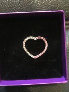9ct Yellow Gold Diamond/pink Sapphire Pendant