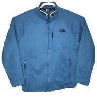 The North Face Men XL Full Zip Thick fleece Sherpa Jacket Sweater Blue Outerwear