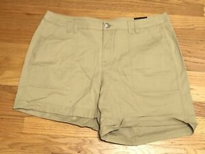 Lane Bryant Khaki Cuffed Dress Shorts Plus Size 18W NWT!