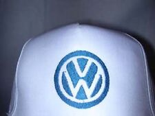 VW emblem on white cap