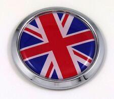 Great Britain Flag Emblem Chrome Bezel Union Jack Decal Car Bike 3D Sticker