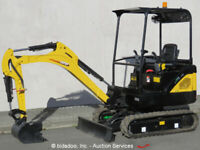 2017 Carter CT18-9DS Mini Excavator Aux Hyd Extendable Tracks Perkins Blade NEW
