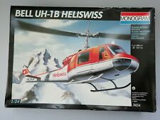Monogram Bell UH-1B Heliswiss 1/24 Scale helicopter model kit.