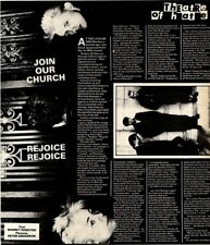 28/2/81PN18 Article & Picture Kirk Brandon & Theatre Of Hate join Our Church..
