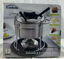 New Trudeau 3-in-1 Fondue Set 12-Piece Stainless-Steel - 60 Ounce 082871