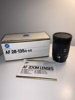 Minolta AF 28-135mm f/4-4.5 Macro Zoom Lens for Minolta-A / Sony Alpha BOXED!!