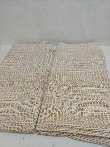 "West Elm Cotton Canvas Bomu Curtains, Set of 2, 48"" x 96"" Horseradish New NO Tag"