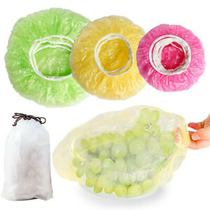 150pc Universal Kitchen Reusable Elastic Food Storage Covers Fresh Keeping Bags