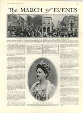 1909 Queen Wilhelmina Holland Rejoices Princess Birth F De Haenen