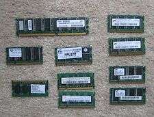 LOT OF TEN (10) ASSORTED LAPTOP AND DESKTOP RAM MEMORY STICKS 4.5 GB TOT - AUCT