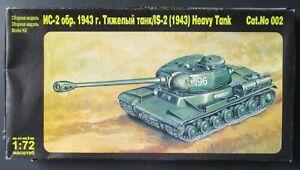 1/72nd Scale Russian IS-2 Heavy Tank 1943 Self Propelled Gun Kit No 002