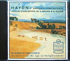 HAYDN Sinfonia concertante Violin voncerto Elisabeth Wall pesce CD Violinkonzerte
