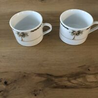 Gibson Bahama Tree Motiff Coffee/Tea Cups Set Of Two