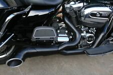 V-Twin 2-into-1 Turnout Exhaust Header Set Black Harley Milwaukee Eight 17-20