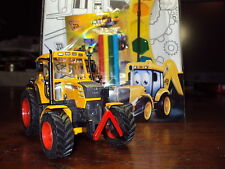 FENDT 312 VARIO 1/32 BRITAINS SCALE YELLOW INDUSTRIAL TRACTOR + JCB POSTER ART