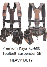 NEW Original KAYA LIFE KL-600 Work Tool Belt Suspenders With Drill Pouch Holder