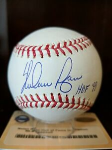 Nolan Ryan HOF 99 Signed Autographed OML Baseball Steiner COA Astros K King Auto