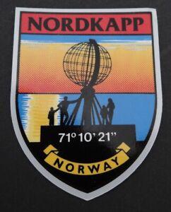 Auto-Aufkleber Nordkapp Nordkap Norge Mittsommer Norwegen Souvenir Norway