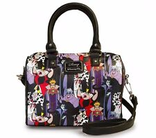 Loungefly Disney Villains All Over Print Cruella Ursula Pebble Duffle WDTB0726