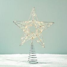 West Elm Shining Star Tree Topper - LED Light-Up Christmas Tree Star