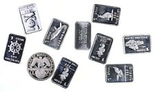 (10) Limited Edition 1g .999 Fine Silver Bar/Round Lot Collection 10g *418