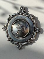 Antique KSL Football League Sterling Silver 925 Albert Chains Watch Fob Medal