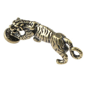 Brass Tiger Statue Ornament Chinese Zodiac Tiger Office Desk Decoration PSEZY
