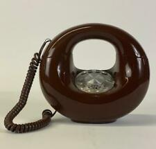 VtG 60's Western Electric Brown Round Donut Rotary Phone Stunning Retro Decor